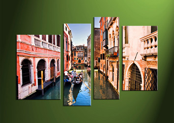 Home Wall Decor,4 piece canvas art prints ,canvas print, scenery huge pictures, city wall art