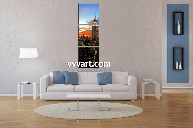 Living Room Wall Decor,3 piece canvas art prints,canvas print, city art, city canvas wall art, city wall decor