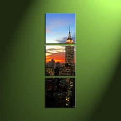 Home Decor, 3 Piece Wall Art,city multi panel art,city wall decor,city canvas wall art,city canvas print