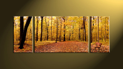 home decor, 3 piece canvas wall art, forest multi panel canvas, scenery canvas art, autumn group canvas