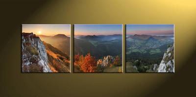 Landscape Art, 3 piece canvas art, Home decor, landscape artwork, scenary artwork