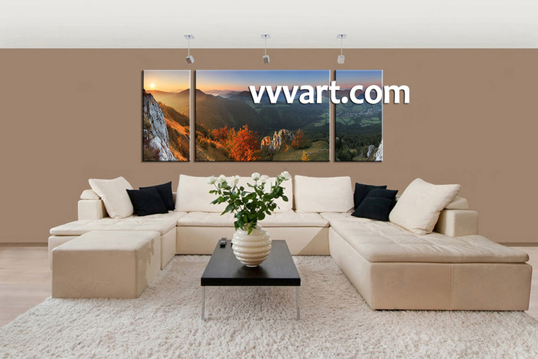 3 Piece Canvas Wall Art, landscape canvas, scenery art , living room decor, landscape artwork
