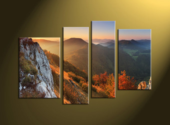 Home Decor,4 piece wall art, forest multi panel art, landscape canvas print, forest huge pictures