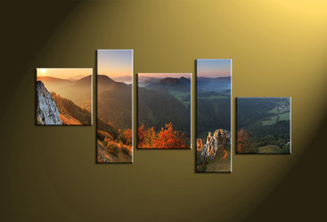 Home Decor,5 piece wall art, Landscape multi panel art, forest canvas print, scenery huge pictures