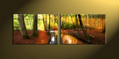 home décor, 2 piece canvas art prints, nature canvas print, forest pictures,  scenery large canvas