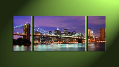 Home Décor,3 piece canvas art prints,canvas print,city scape wall art,city art