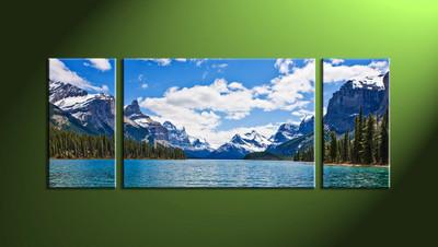 Home decor, river canvas wall art, 3 piece huge canvas, mountain large canvas, 3 piece group canvas