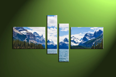 Home wall art, mountain multi panel art, river wall art, landscape artwork, river artwork