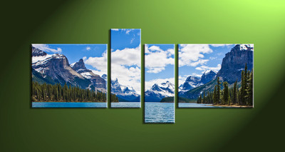Home wall art, river huge canvas art, 4 piece group canvas ,4 piece canvas photography, landscape  large pictures