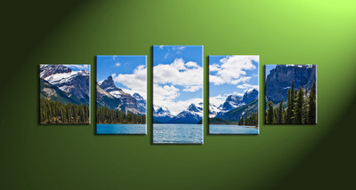 Home wall decor, landscape canvas wall art, 5 piece huge pictures, 5 piece large pictures, 5 piece artwork