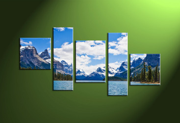 Home decor, landscape photo canvas, scenery large canvas, 5 piece canvas art prints, mountain group canvas
