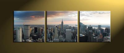 Home Decor,3 piece canvas art prints,city huge canvas art, city art, city scape wall art