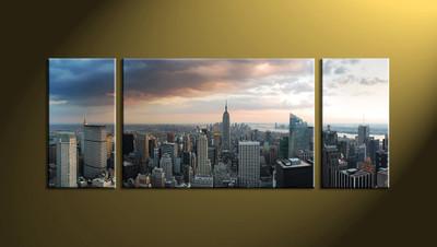Home Decor,3 piece canvas art prints,city scape huge canvas art, city art, city scape artwork