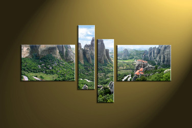 Home wall art, 4 piece huge canvas art, forest group canvas ,4 piece canvas photography, scenery large pictures