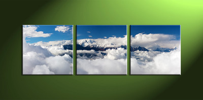 home décor,3 piece canvas art prints, clouds canvas print, mountain canvas print,  scenery large canvas