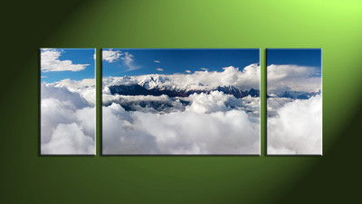 Home Wall Décor, 3 Piece Wall Art, mountain multi panel art, scenery artwork, landscape art
