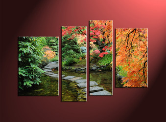 home décor, 4 Piece canvas photography, forest multi panel art, scenery canvas art, nature canvas art prints