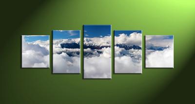 Home Art, 5 piece canvas art prints,5 piece canvas print, scenery group canvas, scenery artwork