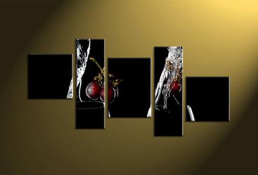 Home Wall Décor,5 piece canvas art prints,glass canvas print, wine art, scenery glass art