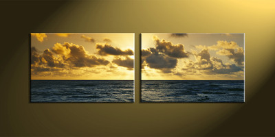 Home Décor, 2 Piece Wall Art, ocean multi panel art, scenery canvas art, ocean multi panel art