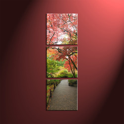 home décor, 3 piece canvas wall art, forest pictures, scenery canvas art, autumn group canvas
