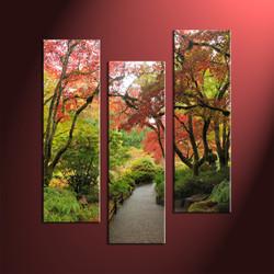 home décor, 3 piece multi panel art, forest pictures, scenery canvas art, autumn group canvas