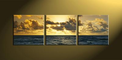Home Décor, 3 Piece Wall Art, ocean multi panel art, scenery canvas wall art, ocean multi panel art