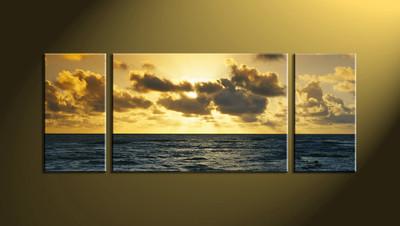 Home Décor, 3 Piece Wall Art, ocean multi panel art, scenery canvas wall art, ocean canvas print
