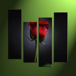 Home wall art, 4 piece canvas prints,floral art print, rose photo canvas, flower multi panel art