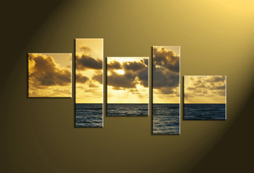 Home Décor, 5 piece canvas wall art,Scenery multi panel canvas, ocean huge canvas art, ocean canvas wall art