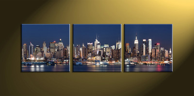 Home Décor, 3 piece canvas wall art, city multi panel canvas, city group canvas, city wall art