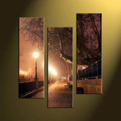 home decor, 3 piece canvas wall art, forest multi panel canvas, scenery canvas art, pathway group canvas
