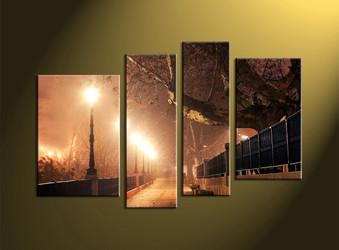 nature canvas print, home decor,4 piece canvas print, forest canvas print,  scenery large canvas