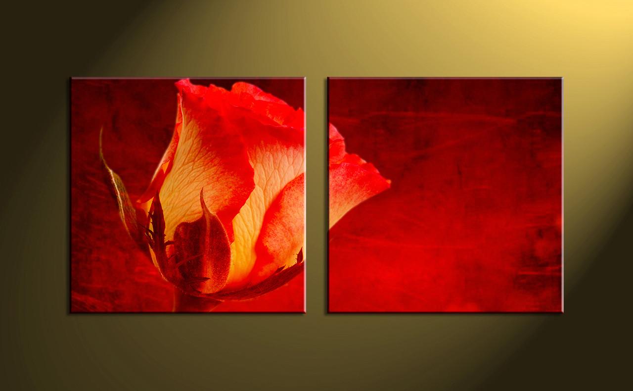 2 piece canvas printsred rose flower wall artbuy art online