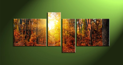 home decor,4 piece canvas art prints, nature canvas print, forest canvas print,  scenery wall art
