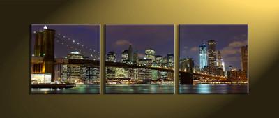 Home Décor, 3 piece canvas wall art,city multi panel canvas, city canvas photography, city artwork
