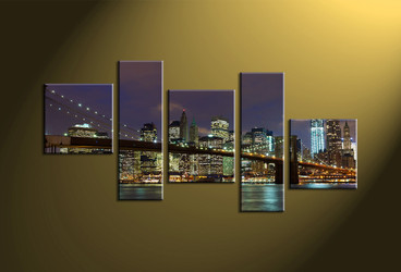 Home Décor, 5 piece canvas wall art,city multi panel canvas, city canvas photography, city scape artwork
