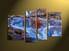 home decor, piece canvas wall art, waterfall multi panel canvas, scenery canvas art, autumn group canvas