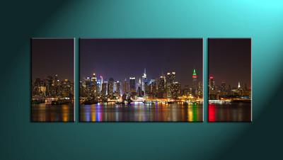 Home Décor,3 piece canvas art prints,canvas print, city art, city scape photo canvas, city group canvas