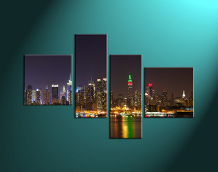 Home Décor,4 piece canvas art prints, city canvas print, city art, city scape photo canvas, city pictures