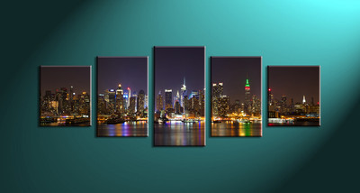 Home Décor,5 piece canvas art prints,canvas print, city art, city scape city large canvas , city group canvas