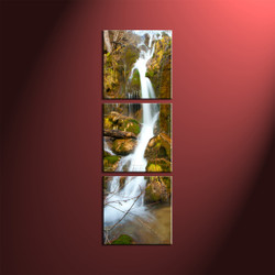 home decor, 3 piece canvas wall art, forest multi panel canvas, scenery canvas art, waterfall group canvas