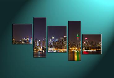 Home Décor,5 piece canvas art prints,canvas print, city wall art, city scape large canvas, city canvas art prints