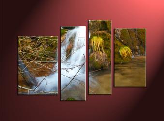 home decor,4 piece canvas art prints, nature canvas print, forest canvas print, scenery large canvas