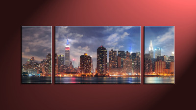 Home Décor, 3 Piece Wall Art, city multi panel art, city large pictures, city scape huge pictures, city wall art