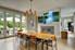 dining room wall decor, 4 Piece Wall Art, scenery multi panel art, waterfall artwork, nature art