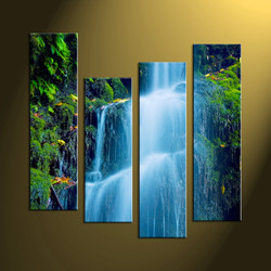 home decor,4 piece canvas art prints, nature canvas print, forest canvas print,  scenery wall art