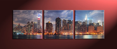 Home Decor, 3 Piece Wall Art, city multi panel art, city large pictures, city huge pictures