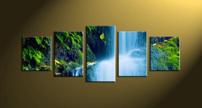 home decor,5 piece canvas art prints, nature canvas print, forest canvas print, scenery huge pictures
