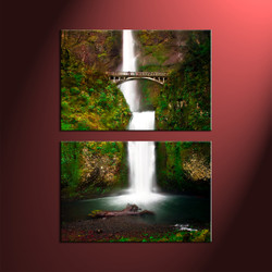 home decor, 2 Piece Wall Art, forest multi panel art, scenery canvas art, nature large canvas
